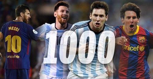 Messi har scoret 1000 mål i fodboldkarriere